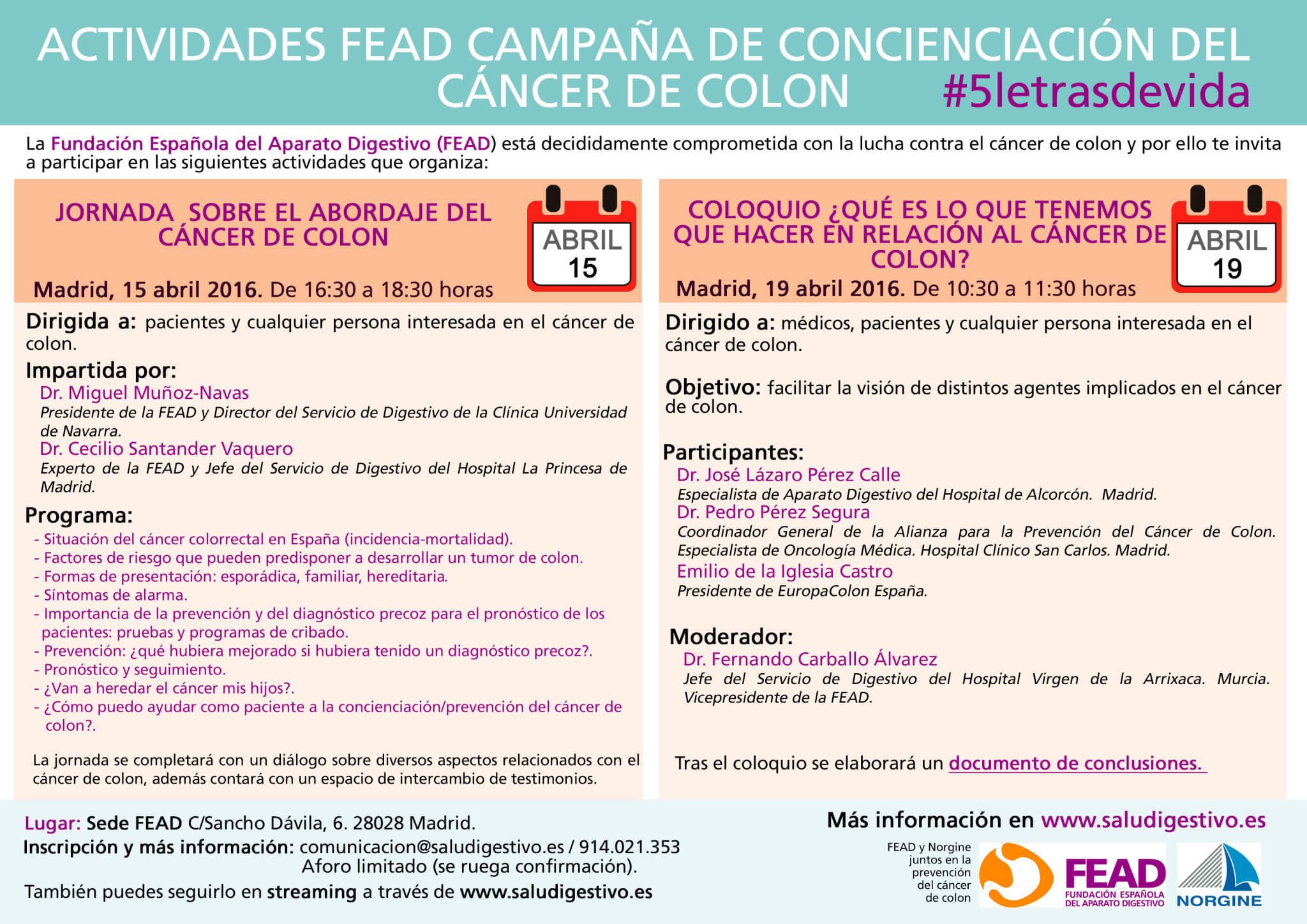 Jornada y Coloquio FEAD CCR 2016